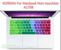 касаться кореи оптовых-Korean Korea Silicone Keyboard Cover Skin for MacBook New Pro 13 Inch A1708 No Touch Bar for Macbook 12