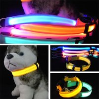 Wholesale pet car safety for sale - Group buy Pet Necklet Led Necklace Translucent Chaplet Pure Color Two Sidednight Safety Nylon Band Bardian ybf1