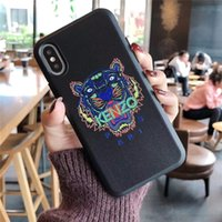 Wholesale one x case for sale – best One Piece Luxury phone case For iPhone S P X XS fashion Tiger head new Designer phone case back cover for gifts