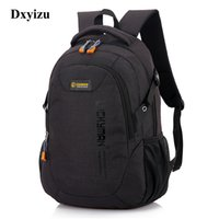 Wholesale backpack computer compartment for sale - Group buy Unisex School Bag Waterproof Nylon Brand New Schoolbag Business Men Women Backpack Polyester Bag Shoulder Bags Computer Packsack Y19061004