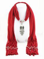 Wholesale pink owl jewelry for sale - Group buy Autumn Scarf Women Necklace Scarves Luxury Owl Pendant Jewelry Tassels Scarf Winter Ladies Shawl Wraps Pashmina Bandana