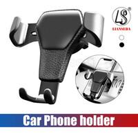 воздух оптовых-Gravity Car Air Vent Clip Автомобильный держатель для телефона без магнитного держателя для мобильного телефона