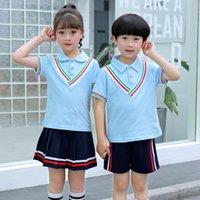 crianças sexy japonesas venda por atacado-Crianças Camisa + Saia Shorts Conjuntos de Roupas para Crianças Sexy Japão Uniforme Escolar Uniforme Adolescente Meninos Meninas Japonês Uniforme Escolar