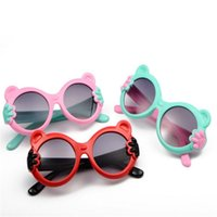 Wholesale boys cartoon mirror resale online - Children Cute Cartoon Sunglasses Frog Mirror Personality Small Hand Glasses UV400 Protection Eyewear Kids Beach Pool Party Favors