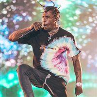 футболки лучшего качества из хлопка оптовых-Трэвис Скотт Astroworld Festival Run Tie Dye Tee Хип-хоп Мужчины Женщины Лучшее качество ASTROWORLD TRAVIS SCOTT Хлопковые футболки