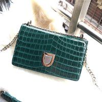 Wholesale dresses pink coffee for sale - Group buy Elegant2019 Grain Crocodile Small Square Single Shoulder Span Genuine Leather Woman Package