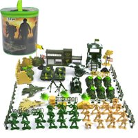 ingrosso figure dell'esercito-90Pcs Soldier Kit Action Figures Military Army Men Sand Model Model Toy