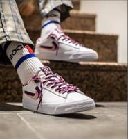 ingrosso scarpe sportive 3d-2019 Parra SB Dunk Low Blazers Arcobaleno Skateboard Shoes CN4507-100 Concetti Blazer 3D OG Designer sport casuali della scarpa da tennis 3 colori 36-44
