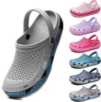 eva garden clogs оптовых-Slip On Casual Garden Clogs Водонепроницаемая обувь для женщин Классические сабо для кормления Больница для женщин Работа в медицинских сандалиях большого размера