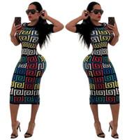 vestido de skatista pescoço preto v venda por atacado-2019 mulheres summer dress mulheres impressão digital dres t-shirt moda curto-manga dress plus size sexy party dress
