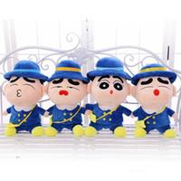 ingrosso bambola presente regalo-Simpatico peluche grande bambola 35 cm Shinchan peluche bambola Miglior regalo di compleanno per bambini Regalo di coppia all'ingrosso
