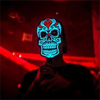 ingrosso maschera audio-Moda Party Versione Sound Reactive Top Selling LED Mask Dance Rave Light Up Regolabile Halloween Party Mask