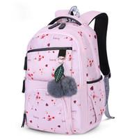 Wholesale backpack korean style men resale online - Girls School Backpacks Korean Style Children School Bags Large Capacity Flower Printing Backpack Bag For Girl Kids