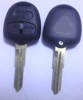 mitsubishi lancer key shell al por mayor-KL1 Mitsubishi Lancer EX 3 botones de casos clave remoto, cáscara de la llave del coche, coches de alta calidad 10pcs blanco clave por lote