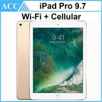 про таблетки оптовых-Восстановленное в Исходном Apple iPad Pro 9.7 дюймов 2016 WIFI + Сотовый IOS A9X Чипсет Двухъядерный 2 ГБ RAM 32 ГБ 128 ГБ 256 ГБ ROM Планшетный ПК DHL 1 шт.