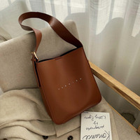 Wholesale large satin drawstring bags for sale - Group buy Bucket bag women s bag autumn and winter new fashion large capacity simple MESSENGER shoulder