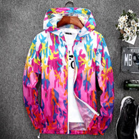 Wholesale uv coating printing resale online - Summer Sun Protection Clothing Couple Camouflage Thin Coats Women s Short Jacket Men s Beach Sunscreen Jacket UV Protection