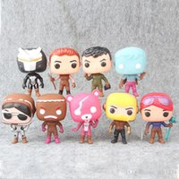 estilo de muñeca rosa al por mayor-Bonito regalo 9 Estilo Fortnita Funko POP Muñeca de plástico para niños juguetes 10 cm Juego de dibujos animados llama Oso rosa Figuras de acción Regalos de Navidad de juguete