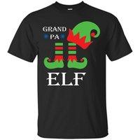 ingrosso pigiama di natale della famiglia unisex-Nero, Navy T-Shirt Nonno Elf T shirt Natale Matching Famiglia Pigiama ElvesMen Donna Unisex Moda tshirt Spedizione Gratuita