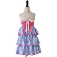Wholesale novelty christmas cakes for sale - Group buy Ins style new summer sleeveless three layer cake suspender girl dress kids clothing elegant ins Summer dress