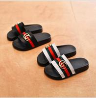antideslizante al por mayor-Zapatos de los niños del verano Niñas Niños Zapatillas de Dibujos Animados Lindo Cómodo Moda Zapatillas Niños Antideslizantes Niñas Zapatillas Zapatos de playa