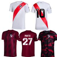 rio de futebol venda por atacado-2019 River Plate Home branco longe vermelho Mens Sanchez Rodrigo Mora Batistuta camisa Uniforme de futebol camisas de futebol camisas de futebol 19 20