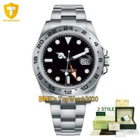 Wholesale 24 dial watch for sale - Group buy Luxury Mens Watches Explorer II Mechanical Automatic Watch Hours GMT Dial Auto Date Full Stainless Steel Case Wristwatches Style