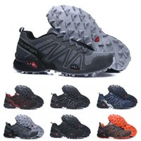 ingrosso scarpe da ginnastica per uomo-2019 Salomon Men's Speedcross 3.5 Trail Best Quality Uomo Nero outdoor Scarpe da corsa Moda Sport Jogging Sport Sneakers Outdoor Walking