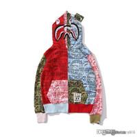 capas japonesas al por mayor-19ss de alta calidad marca de marca japonesa 25 aniversario limitado doble tapa de camuflaje de múltiples capas de mosaico suéter con capucha sudadera juvenil