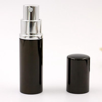boş metal parfüm şişesi toptan satış-10 ML Mini Taşınabilir Sprey Şişe Boş Parfüm Şişesi Siyah Doldurulabilir Parfüm Atomizer Sprey Seyahat Aksesuarları RRA1829