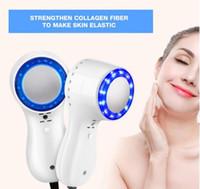 ingrosso la guarigione della luce-Faccia blu Photon Cold Light Hammer Ice Healing viso di sollevamento della pelle di serraggio Shrink pori Anti-aging Massaggio Viso