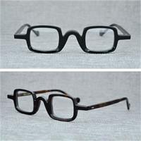nerd brillenrahmen für männer großhandel-Cubojue Acetat Brillengestell Männer Kleine Quadratische Brille Mannes Optic Brillen Nerd Schildkröte Brillen Qualität