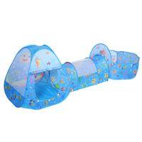 piscinas plegables al por mayor-3 UNIDS Juego de Casa Portátil Carpa Pool-Tube-Teepee Baby Play Tent House Foldable Ocean Ball Pool Kids Crawling Tunnel Tube Regalo