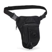 Wholesale waist leg bags resale online - Tactical Waist Thigh Bags Outdoor Hiking Camping Leg Bags Durable Oxford Shooting Hunting Tools Waist Leg Bag