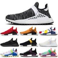 lazos de crema al por mayor-adidas Originals Human Race Hu NMD Boost zapatos para correr BBC Cream Black Nerd Igualdad Holi Festival Tie-dye Oreo Mujer Entrenador deportivo para hombre Zapatillas 36-45