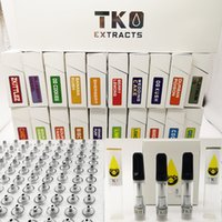 Wholesale cartridge empties resale online - 0 ml TKO Cartridges Extracts Empty Oil Vape Pen Black Ceramic Tips Packaging Ceramic Coil Carts vaporizer e cigarette Thread Atomizers