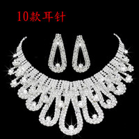 Wholesale bridal jewelry designers for sale - Group buy 2019 Romantic Pearl Designer With Crystal Cheap Two Pieces Earrings Necklace Rhinestone Wedding Bridal Sets Jewelry Set Jewerly