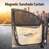 rideaux de pare-soleil de fenêtre latérale achat en gros de-Protection contre les rayons UV de voiture pare-soleil de fenêtre magnétique de pare-soleil de fenêtre latérale de pare-soleil de maille de pare-soleil de maille de film de protection d'été HHA163