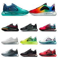 erkek ayakkabılarını çöl toptan satış-nike air max 720 Erkekler için Hotsale koşu ayakkabıları Neon üçlü beyaz siyah sunset DESERT ALTıN KUZEY IŞıKLARı GÜN kadın spor sneaker trainer boyutu 36-45