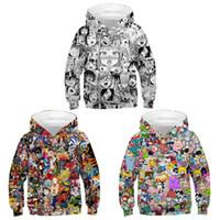 Wholesale anime toddler resale online - 2019 Spring Autumn Long Sleeve Kids Hoodies Jacket Japan Anime d Print Girls Hoodies Toddler Kids Baby Boys Hooded Sweatshirts