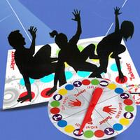 brinquedos adultos unisex venda por atacado-Indoor Fun Twister Toy Game Para Crianças Adulto Movimentos Esportivos Grupo Interativo Brinquedos Educativos Clássico Spot Twister Jogo Do Corpo
