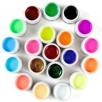 Wholesale color tips for nails resale online - 20x UV Gels for fake nails tip manicure Pro color glitter color Milkshake Glitter