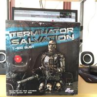 göğüs şekilleri toptan satış-Klasik Bilimkurgu Filmi Terminator Kurtuluş T-600 BUST DC Comic Şekil Heykelcik Oyuncaklar