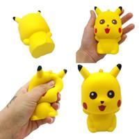 kawaii squeeze spielzeug großhandel-Pokemons Spielzeug 11CM Pikachu Squishies Dufte Kawaii Squishy Squeeze Langsam steigende Relief Spielzeug Dekompression Kinder Spielzeug