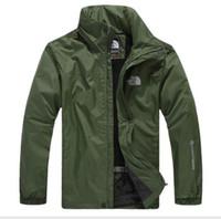 italienische pfeifen großhandel-Neue heiße Verkauf Outdoor Jacken Anden die Männer Norden wasserdichte einschichtige Overalls Mantel Windjacke Gesichtsjacke versandkostenfrei