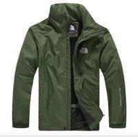sıcak tulum toptan satış-Yeni sıcak satış Açık ceketler Andes erkekler kuzey su geçirmez tek katmanlı tulum ceket rüzgarlık yüz ceket ücretsiz kargo