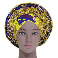 afrikanische hüte großhandel-Afrikanische Gelee bereits Kopfbedeckung mit Perlen afrikanische Kopfbedeckung für Frauen Dashiki afrikanische Kleidung hat traditionelle Auto-Gele-Mode