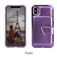Wholesale red lens cover resale online - For Samsung S10 E Plus Electroplated PC TPU Corners Bumper with Mirror inside Lens Screen Protective Wallet Card Phone Case Cover