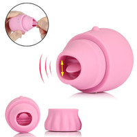 Wholesale adult sex toys nipple pumps resale online - Vibrator Adult Sex Toys For Women Speed Licking Tongue Vibrator Clitoris Vaginal Stimulation Pump Oral Vibrating Nipple Lick Y19061702