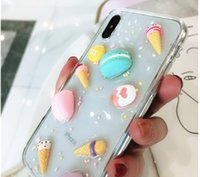 Wholesale free x gel online – custom Cartoon Macaron Soft TPU Gel Phone Case Cover For iPhone X s plus free DHL